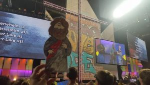 Flat Jesus at the Youth Gathering