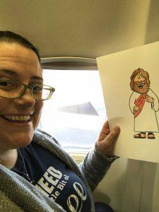 Flat Jesus in flight