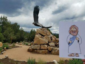 Flat Jesus in Ridgeway, Colorado