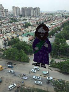 Flat Jesus in India