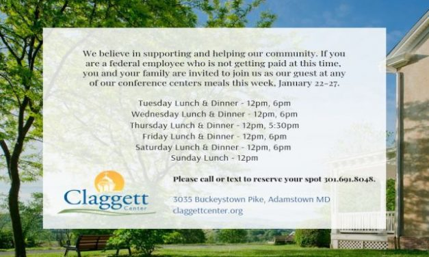 Clagget Camp and Conference Center offering meals for furloughed federal employees