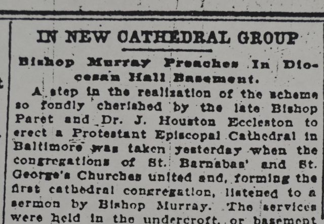 From the Archives: St. Barnabas' and St. George's Churches, our Cathedral's Nucleus Congregations