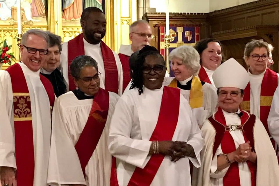 Mother and son share the joy of ordination in the Episcopal tradition