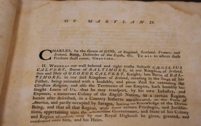 From the Archives: Religious Toleration in Colonial Maryland