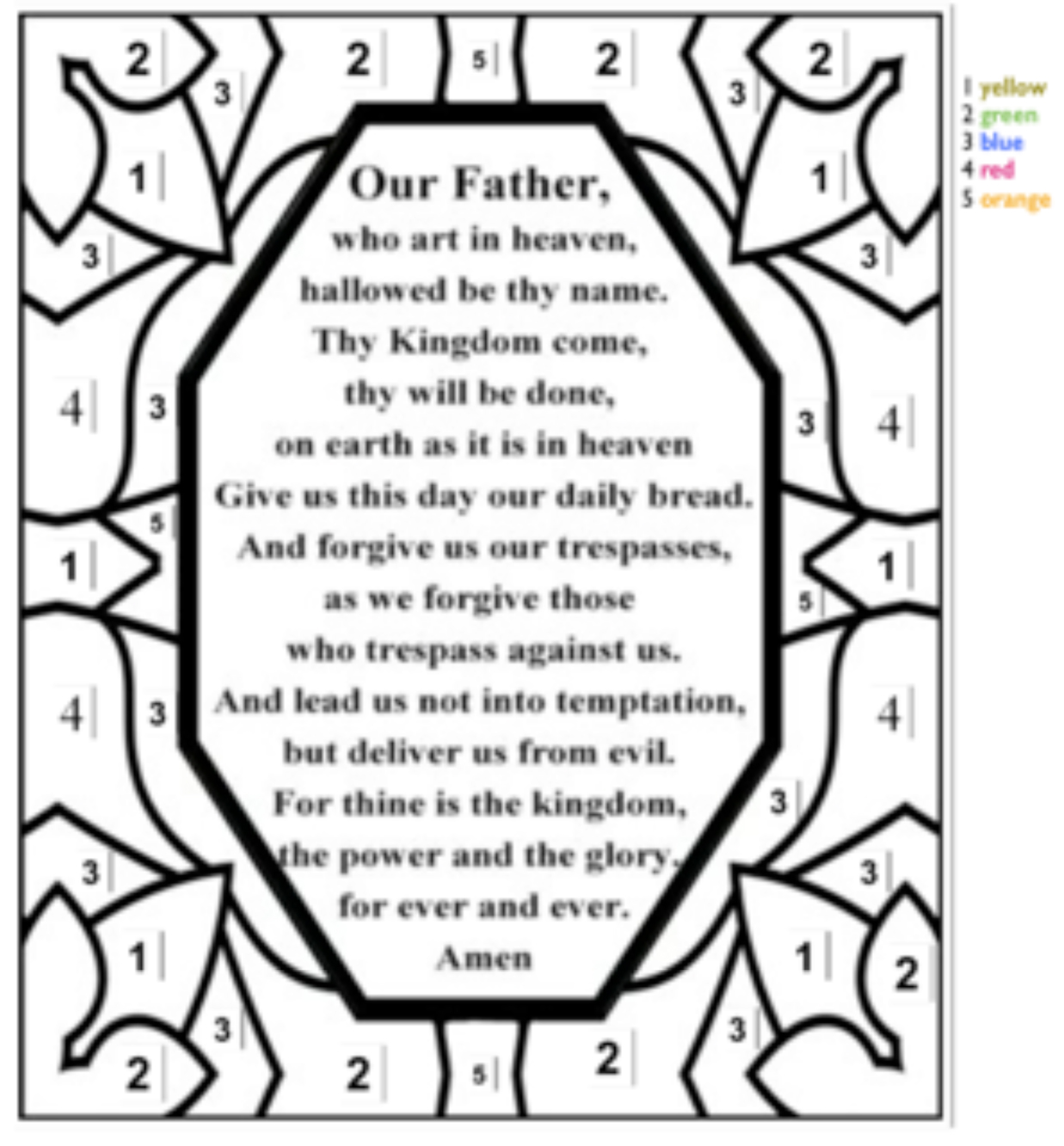 God hears our prayers coloring pages ~ Worship Tools for Children - Association of Presbyterian Church Educators