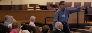Rodger Nishioka Speaks at Presbytery