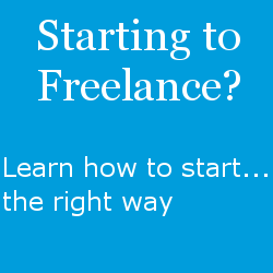 Starting to freelance?