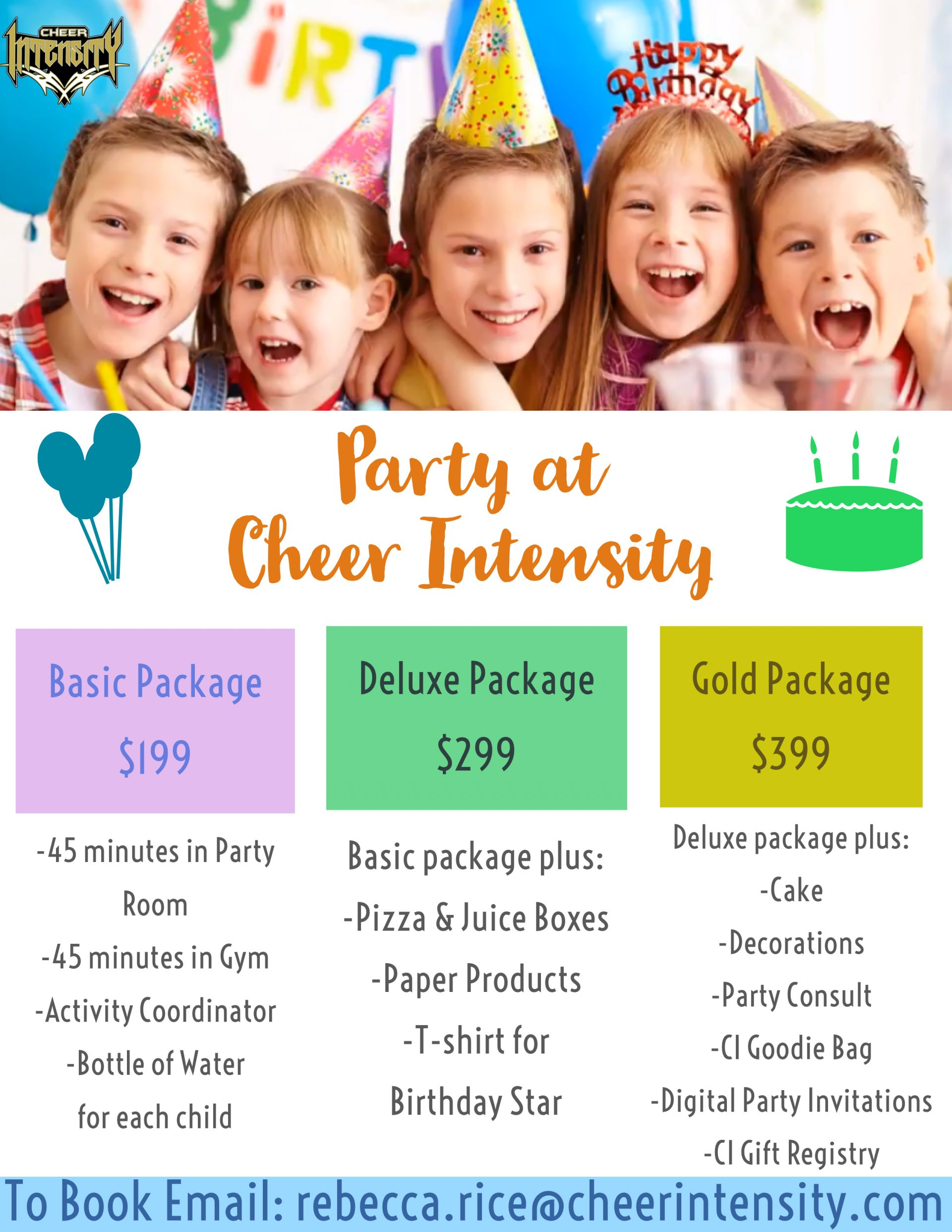 Beginning In January You Can Now Have Your BIRTHDAY PARTY At Cheer Intensity Our New Location Colonie NY Will Feature A State Of The Art Party Room