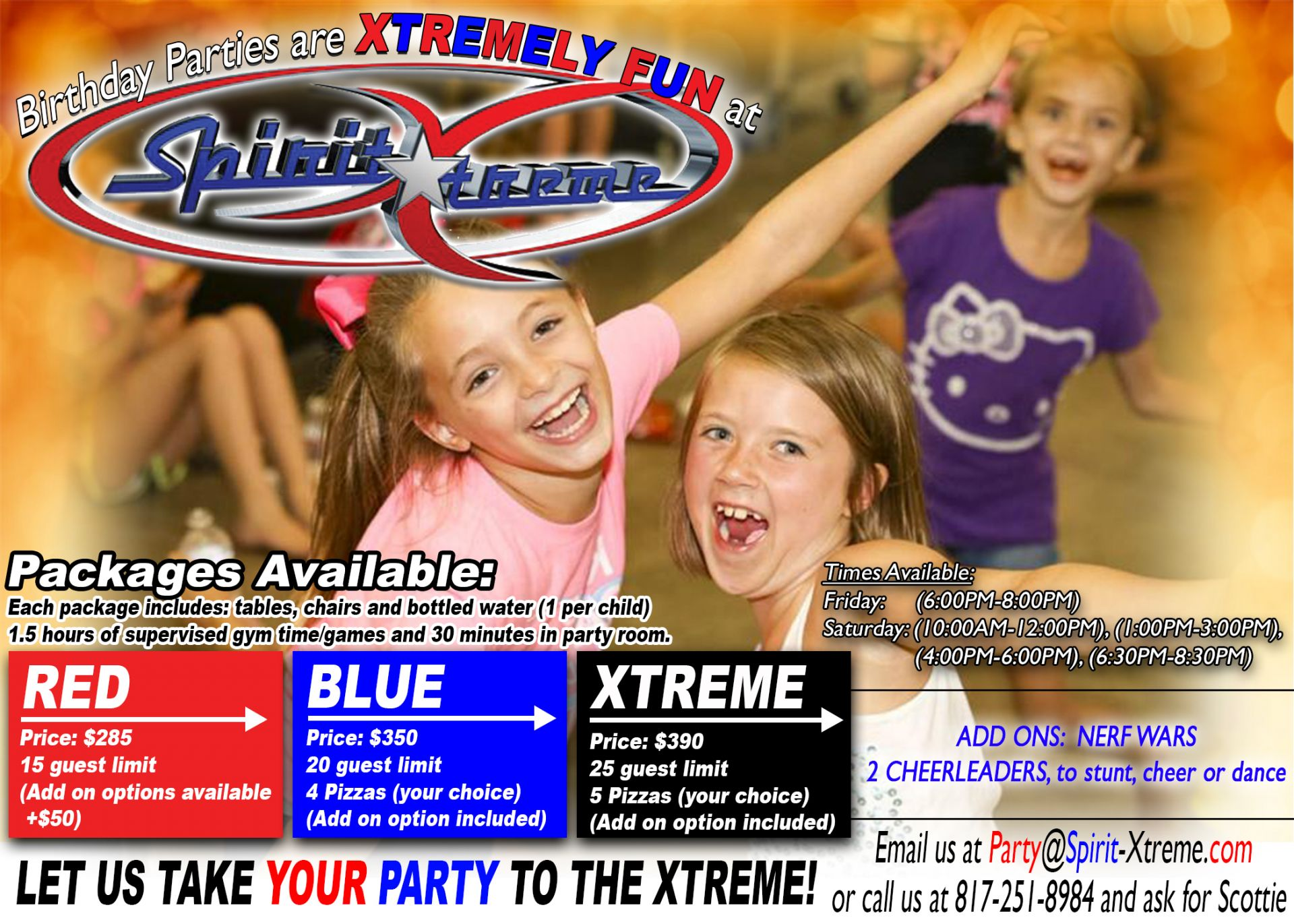 Take your party to the xtreme