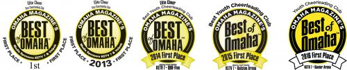 Omaha Magazine announced Elite Cheer is 2016 Best Youth Cheerleading Club