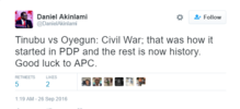 Nigerian Twitter reacts to Bola Tinubu vs John Odigie-Oyegun clash over Ondo APC governorship primaries
