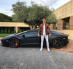 Cristiano Ronaldo shows off his £260K Lamborghini Aventador