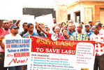 LASU students protest non-reversal  of high tuition