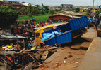 Truck crushes four to death, injures six