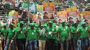 Confusion As VIP Seating Collapses At Pro-Jonathan Rally
