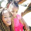 Adorable photo of Amara Kanu and her daughter