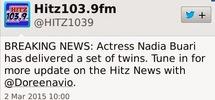 Erm, wait...actress Nadia Buari has given birth to twins?