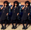 Photo: Actress Mercy Aigbe steps out in edgy all-black ensemble