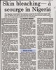 1988 - When bleaching creams were banned in Nigeria...:-)