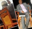 Photos: OAU students tussle to seat on Pastor Kumuyi's chair