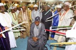 Photos: President Jonathan visits the Ooni of Ife's palace today