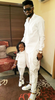 So cute! Basketmouth & his daughter wear matching white outfits...
