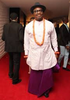 Alibaba reacts after friends tell him his Urhobo attire to AMVCA was inapproriate