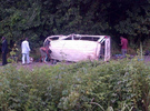 Photos: Ghastly motor accident along Lagos-Ibadan expressway