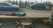 Photo: Man dies after electric wire falls on him while walking on the road