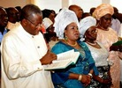 Photos: Pres. Jonathan joins wife, mother and others to celebrate Mothers Day