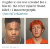 Mugshots that show how US police handle black and while culprits