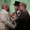 Photo: Rivers state PDP, APC & LP governorship candidates laugh & hold hands