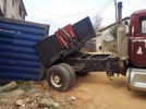 Photos: Another trailer accident, crashes into a house in Aba