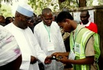Shehu Shagari and Atiku Abubakar at their polling unit
