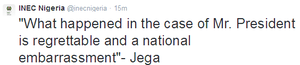 Card reader failure at GEJ's polling unit a national embarrassment - Jega