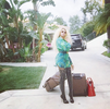 Dencia shows off outside her LA mansion in new photos