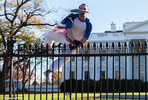 Man draped in American flag jumps the White House fence on Thanksgiving day