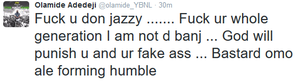 Oh dear! Olamide rips into Don Jazzy on Twitter after clash at Headies awards
