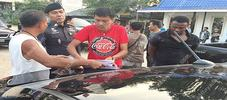Photos: Nigerian drug dealer arrested in Pattaya, Thailand after leading police on a car chase.