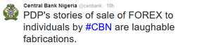 """CBN reacts to PDP's Forex allegations, says they are """"laughable fabrications"""""""