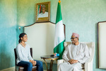 Photos: President Buhari meets with 13-year-old Nigerian filmmaker and girl-education advocate, Zuriel Oduwole.