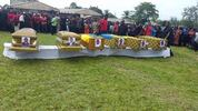 Photos: Remains of Ghanaian family of 6 who died in fire laid to rest today amidst weeping and wailing