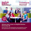 Enhance your qualifications and gain work experience at Sheffield Hallam University. Meet staff In Ibadan& Lagos to find out more