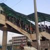 Photos: Commotion on Ojota Pedestrian Bridge after someone attempted to 'follow one way'