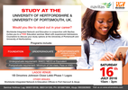 Study at the university of Portsmouth & University of Hertfordshire in the UK