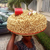 See how well this woman arranged her cooked groundnut