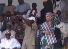Photos: Governor Oshiomole and wife Iara show off dance moves at APC rally in Edo