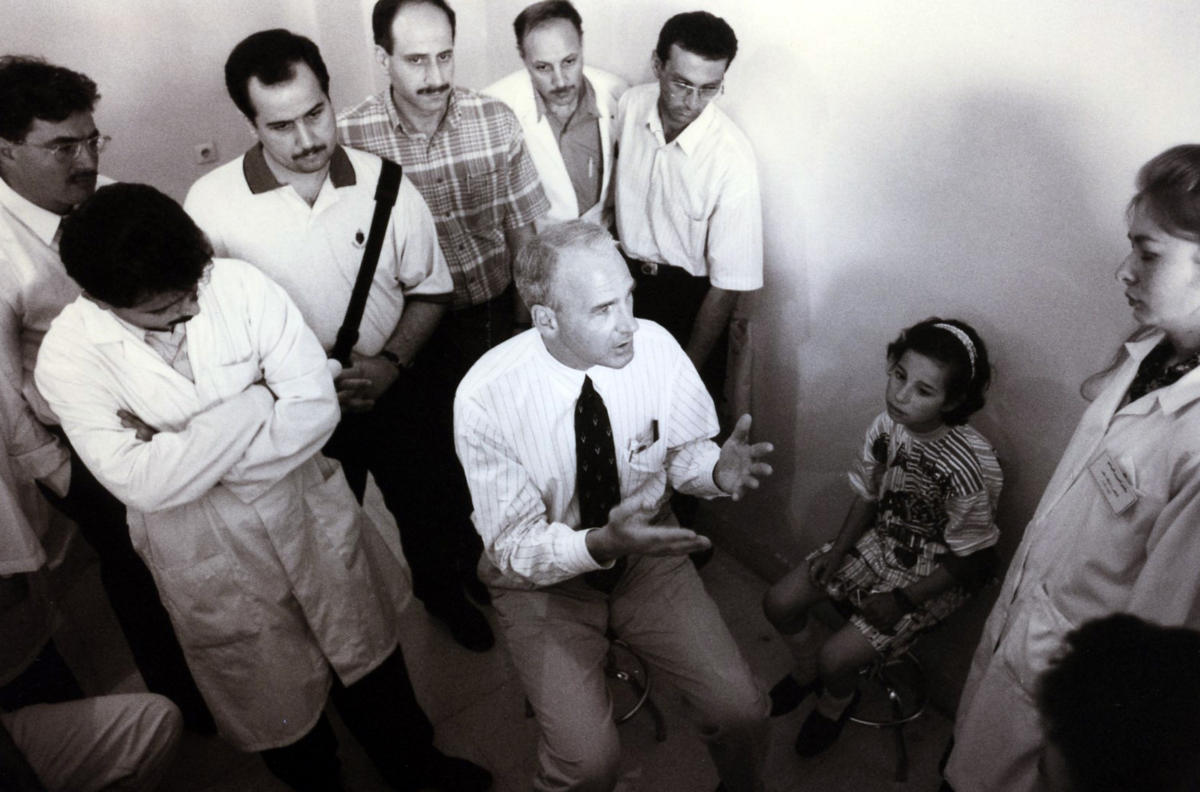 Orbis Doctor in Damascus in 1998.