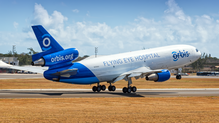 The Flying Eye Hospital takes off
