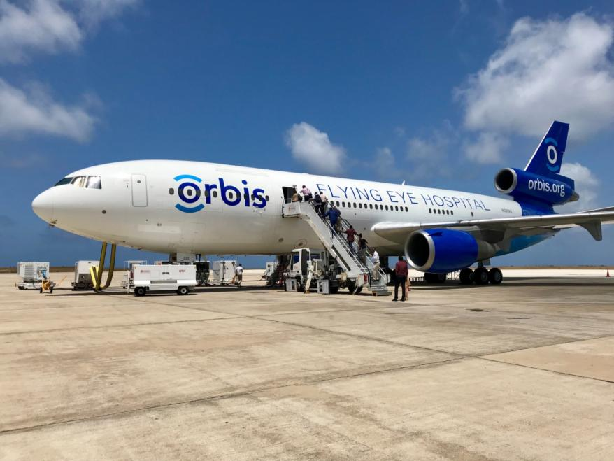 Flying Eye Hospital In Barbados.